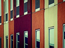 Rows of windows and filters.
