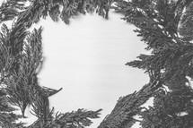 pine garland border