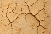 cracks in the ground