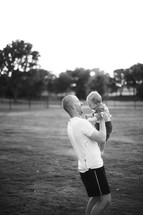 Father holding baby boy