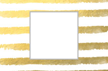gold and white stripes with frame