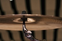 Close-up of a cymbal.