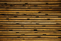 Wood texture on reclaimed lumber slats