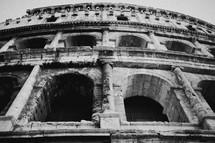 windows of the Coliseum in Rome