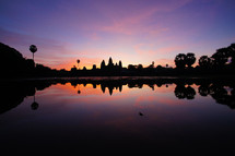Sunrise over Angkor Wat, Cambodia. Dawn. New Day.