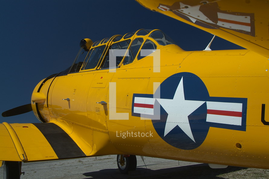 old yellow airplane