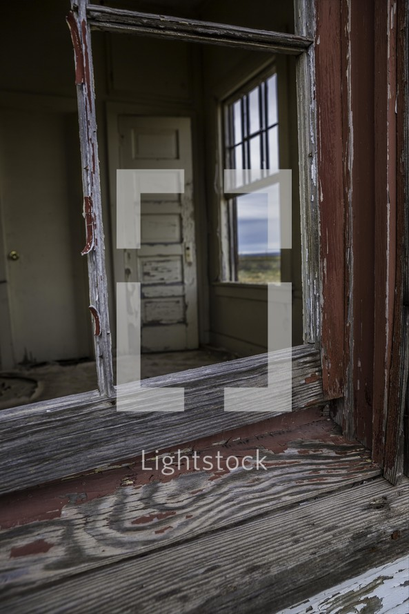 old weathered window sill
