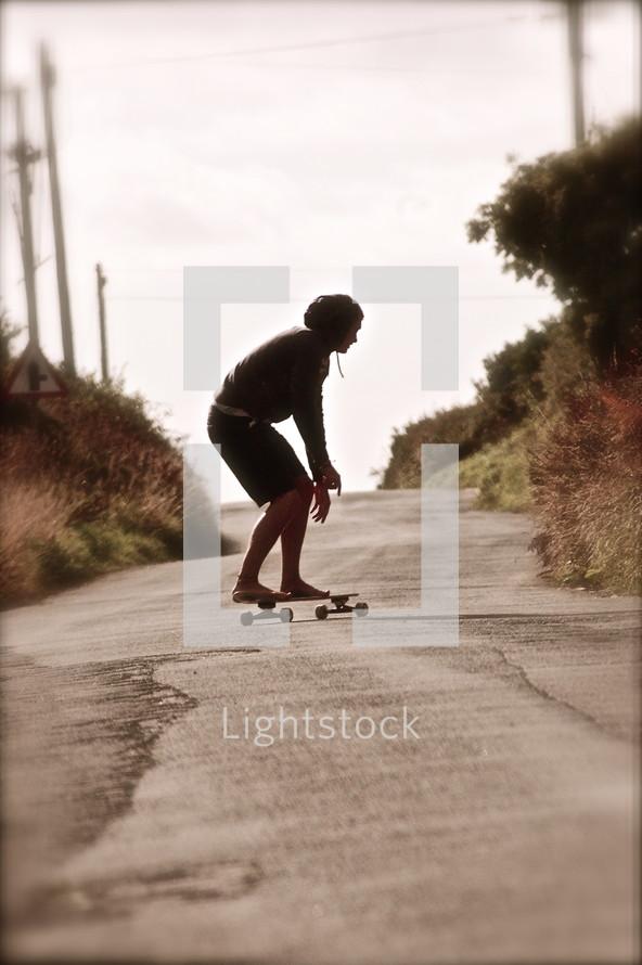 Boy on skateboard
