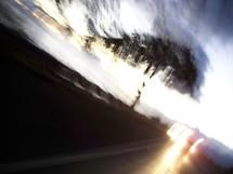 car speeding down a highway