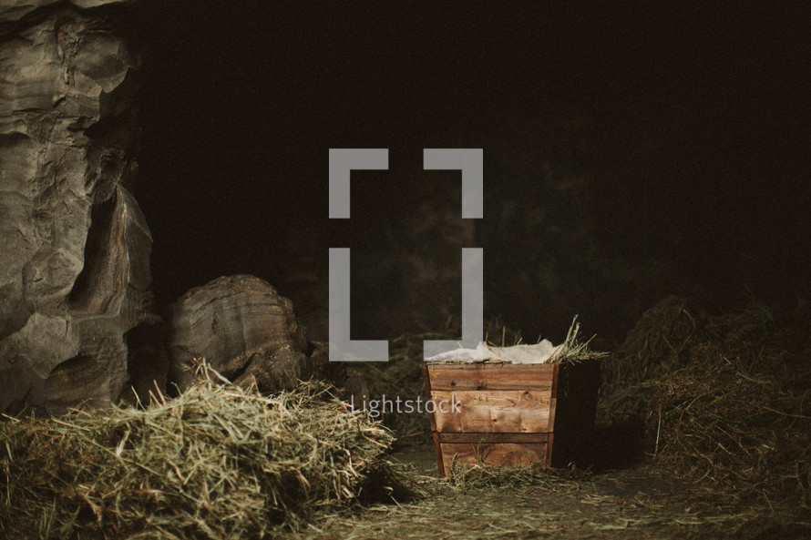 The manger and stable where Jesus was born