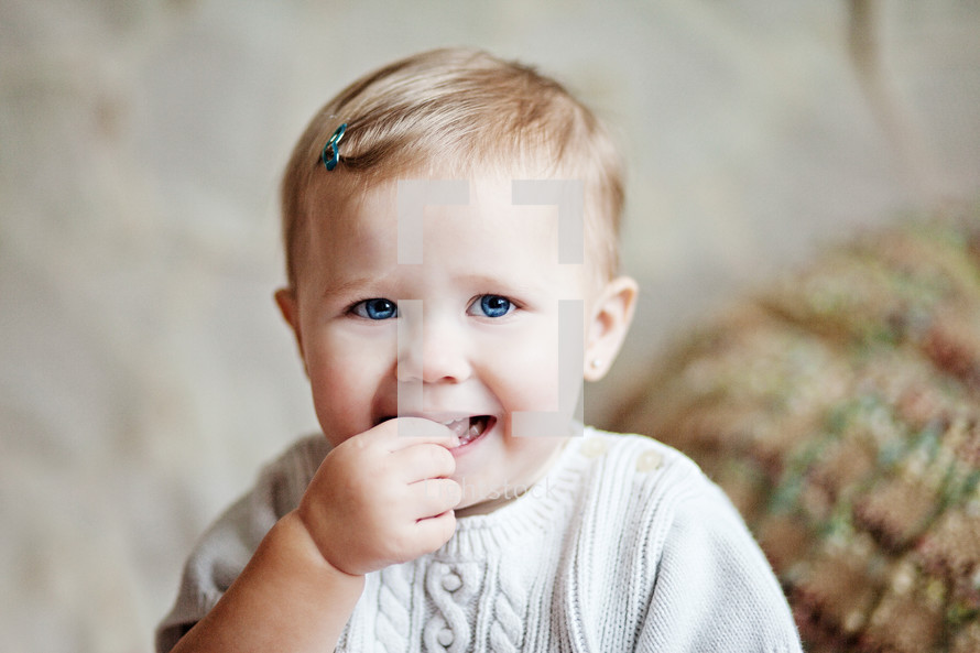 Infant smiling