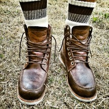 HIghtop boots and socks