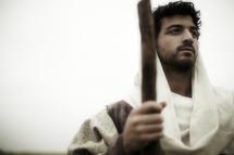 Joseph and a cane