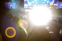 bokeh lights at a concert