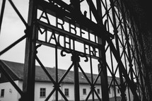 metal gate at Auschwitz