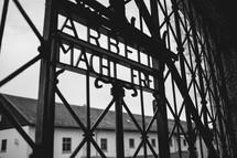 metal gate at Auschwitz