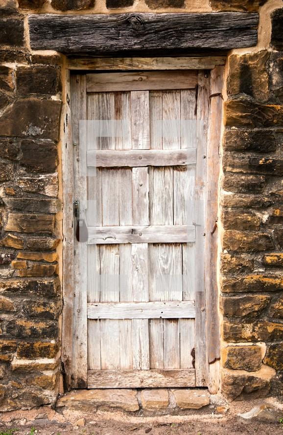 old wood door with a lock