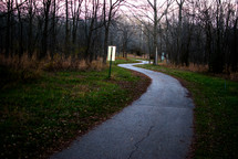 asphalt walking trail