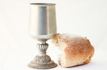 chalice and bread loaf