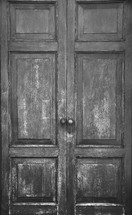 Double wooden doors