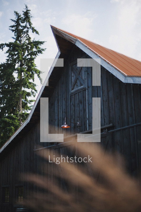 roofline of a barn