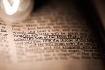 Underlined scriptures