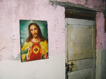 Picture of Jesus hanging on wall