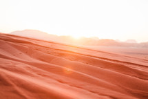 red sand in the Wadi Rum desert in Jordan
