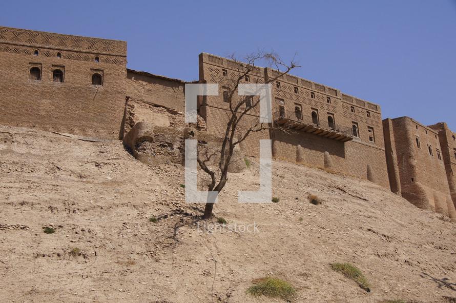 Erbil Citadel, longest continually inhabited city in the world. Kurdistan, Iraq