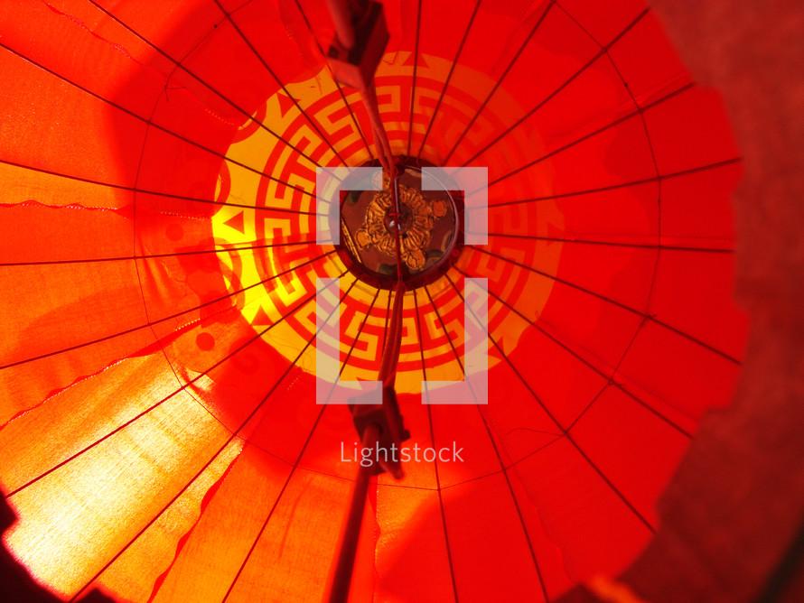 Underneath side of Asian lantern