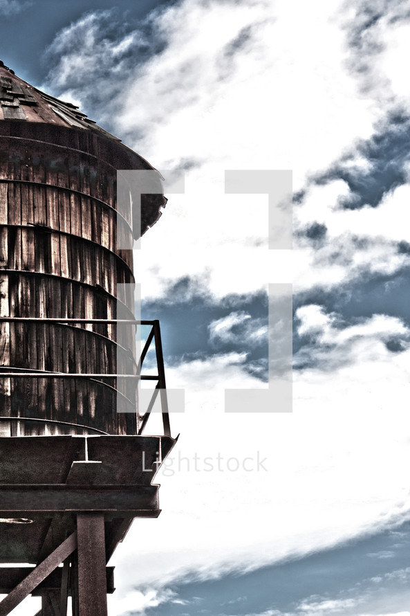 Wood water tower