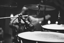 A drumset.