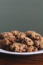 a plate of homemade cookies on a table