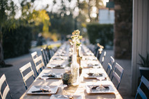 a set table ready for a dinner party