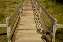 wood stairs outdoors
