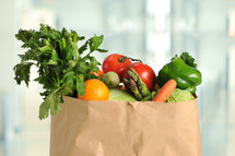 produce in a paper bag