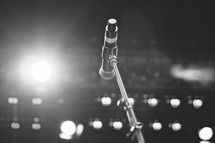 A microphone from the stage.