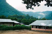 tin roof houses in a village