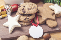 Christmas Cookies with Gift Tag