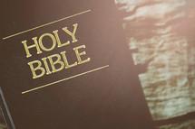 Holy Bible cover closeup