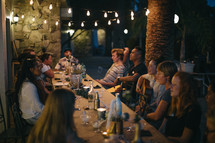 people gathered at a dinner party