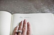 be still written in a journal
