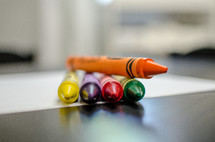 crayons on paper
