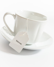 tea cup with the word beloved on the tea bag