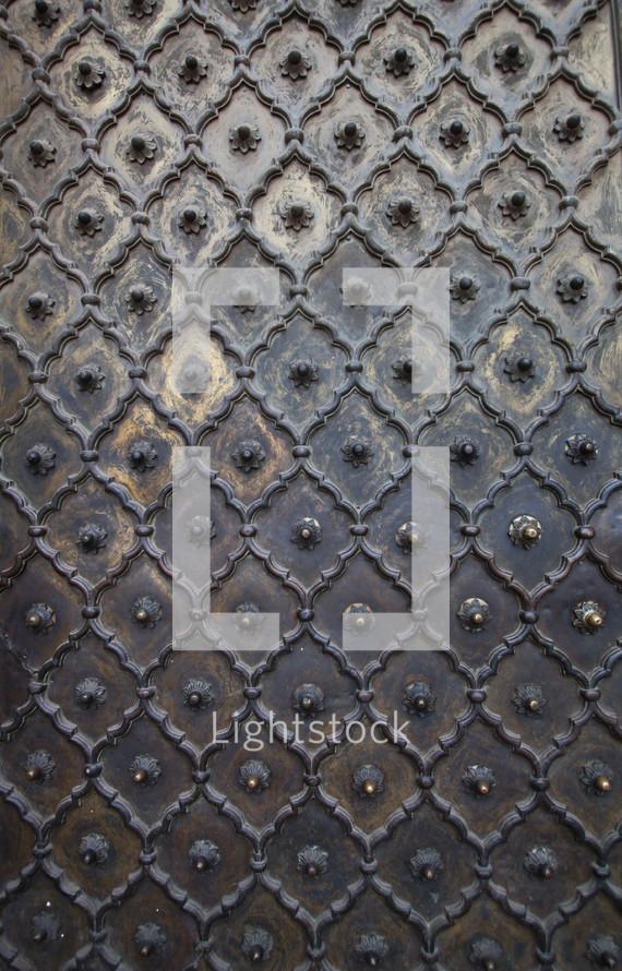 Metal detail on a palace door