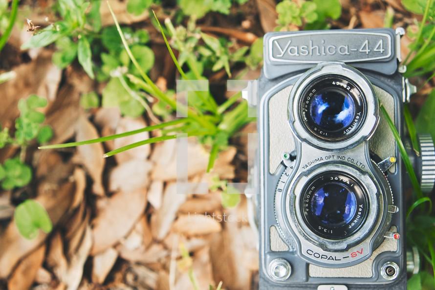 A Yashica-44 camera.