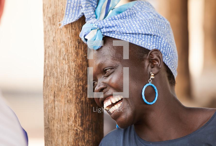 smiling woman in Sudan, Africa