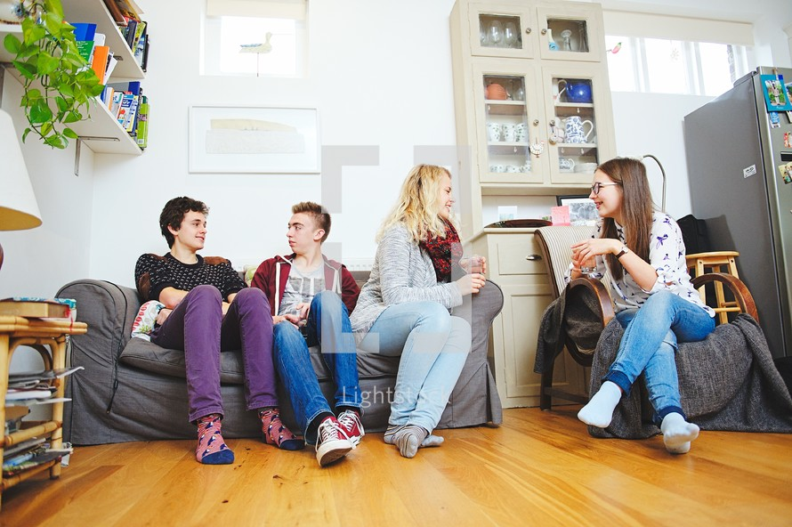 teens in conversation at youth group