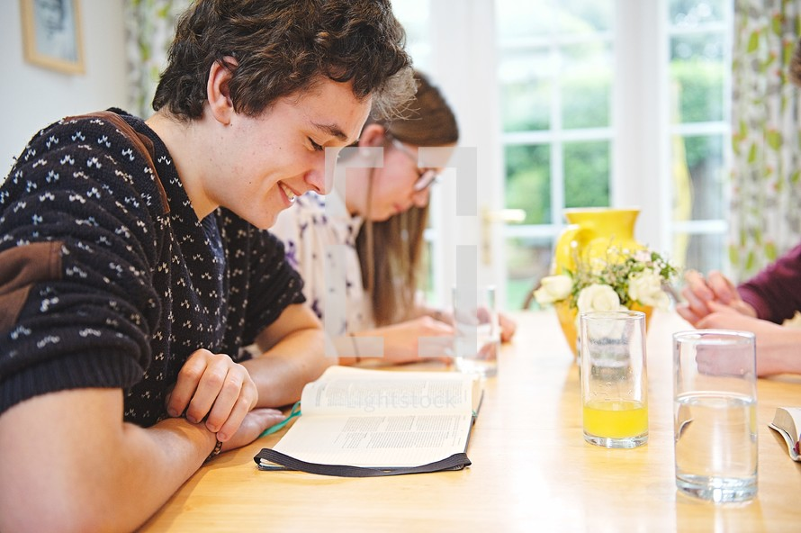 youth at a Bible study