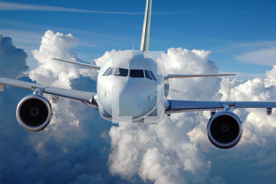 Airliner in flight.